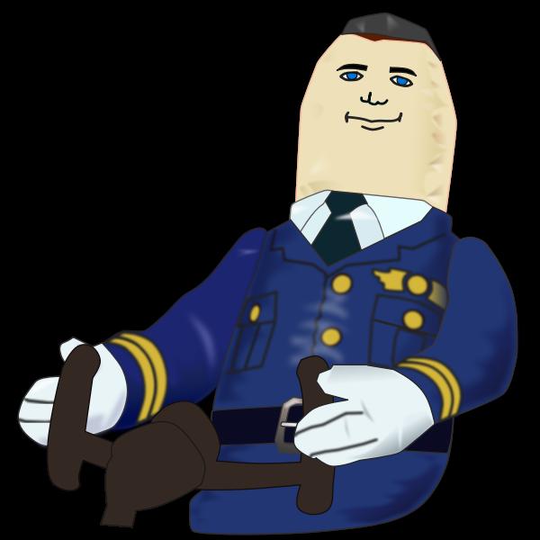 Blow-up pilot vector image