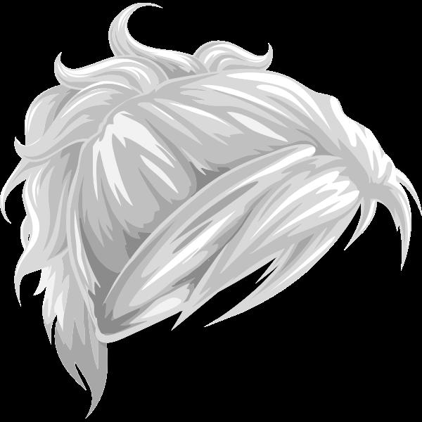 Vector drawing of ladies wavy hair element