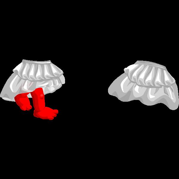Vector graphics of girl skirt with legs for avatar