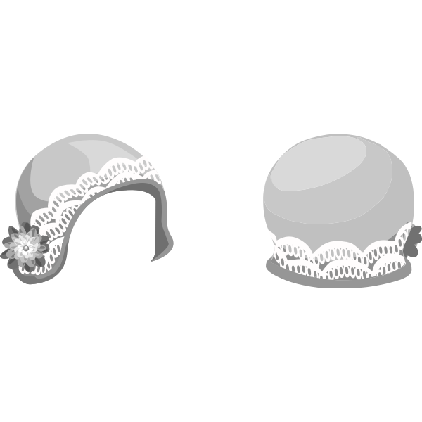 Vector drawing of decorative ladies hat
