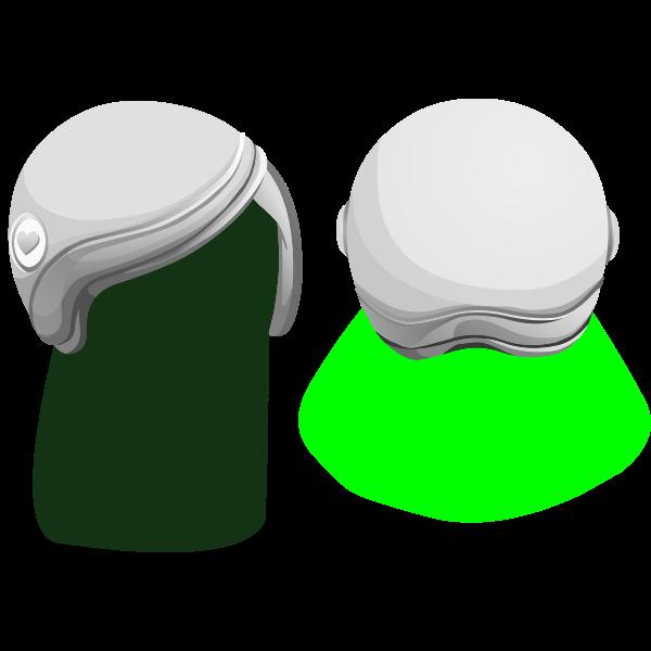Vector drawing of avatar helmet