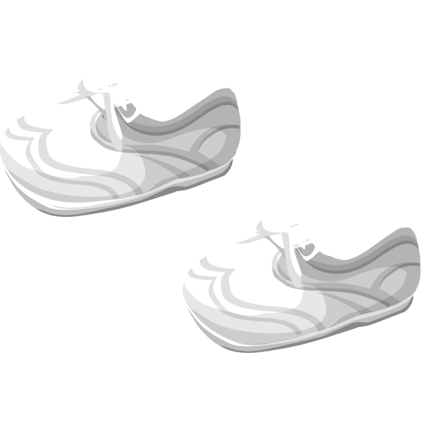 Vector drawing of soft baby shoes