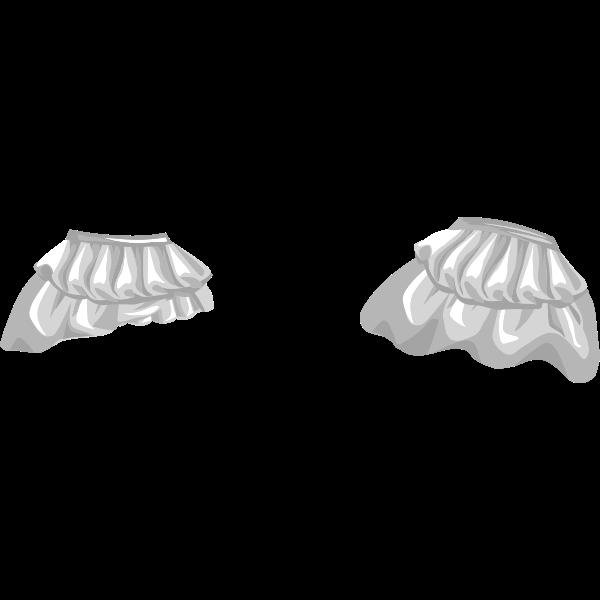 Vector image of female wardrobe skirt for avatar