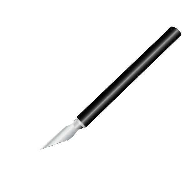 Vector clip art of x-acto style knife