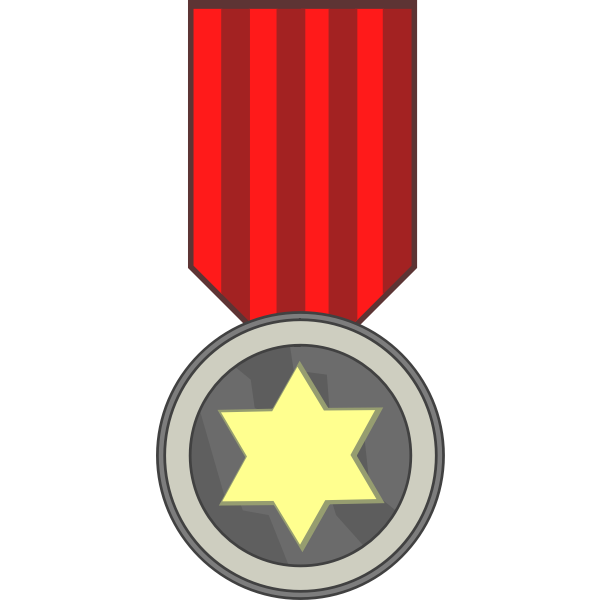 Star award medal vector drawing