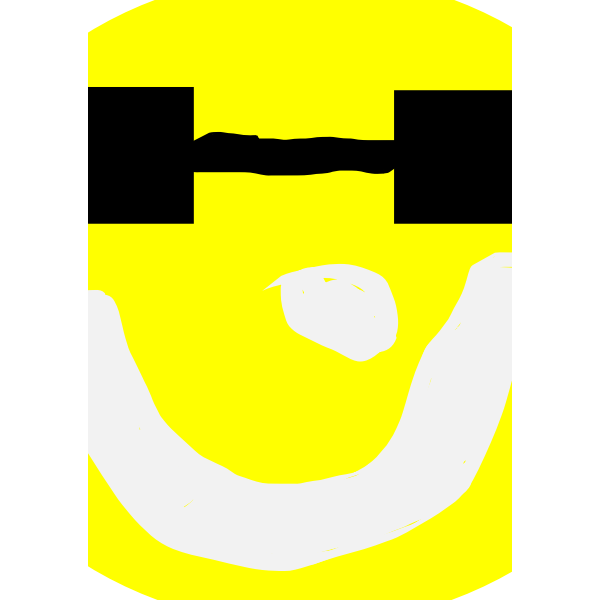 smiley sun with glasses