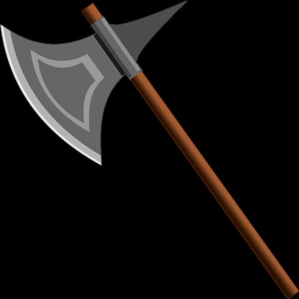 Grayscale axe vector image