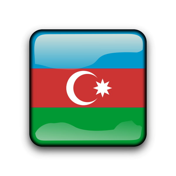 Azerbaijan vector flag button