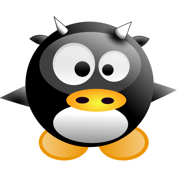 Vector illustration of baby comic penguin