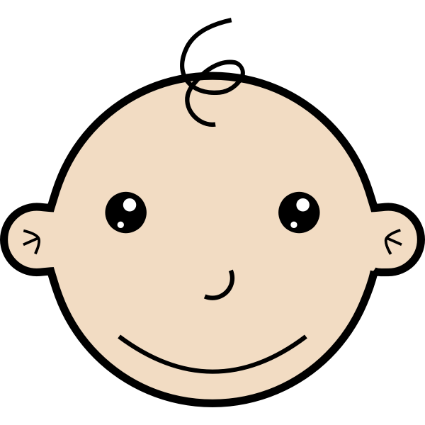 Smiling baby vector graphics