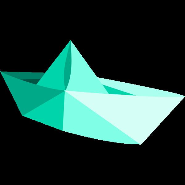 Vector illustration of paper boat