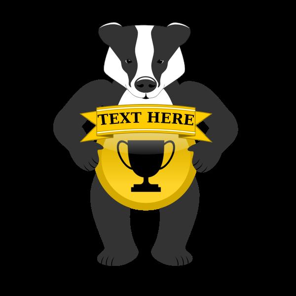 badge holding badger
