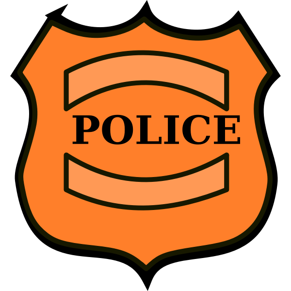 Police badge vector drawing