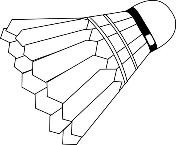 badminton shuttlecock lineart