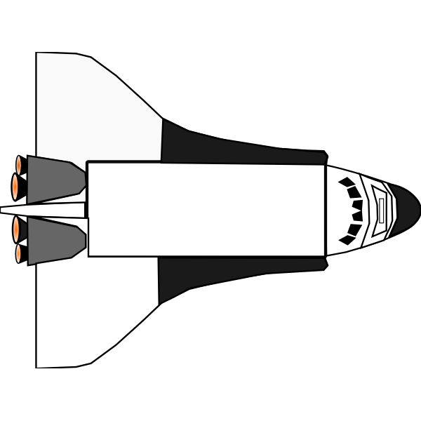 Space shuttle vector icon