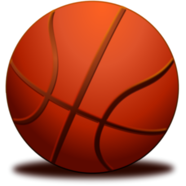 Ball for basketball with a shadow vector image