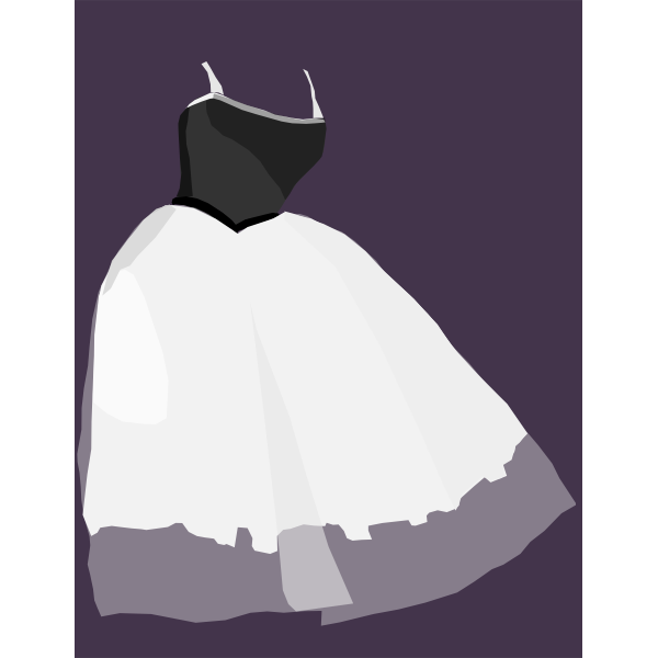 Ballet dress vector drawing