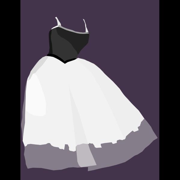 Ballet dress vector drawing