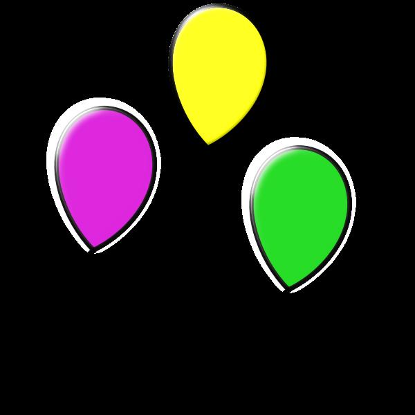 Vector illustration of three floating balloons