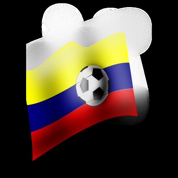 Colombian flag vector clip art