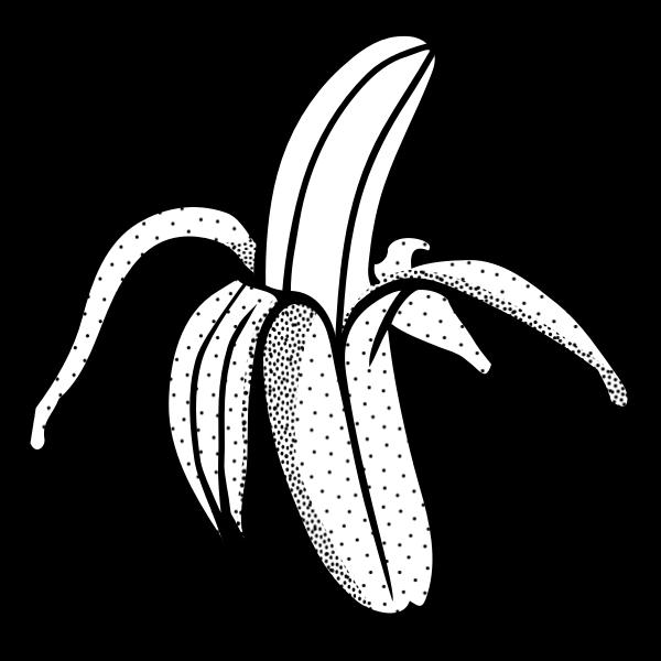 Pilled banana