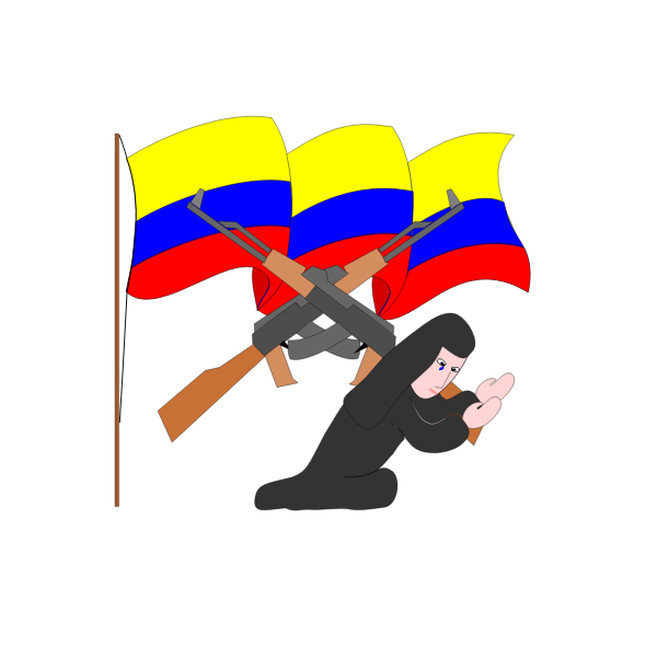 Colombian guerilla fighter vector image