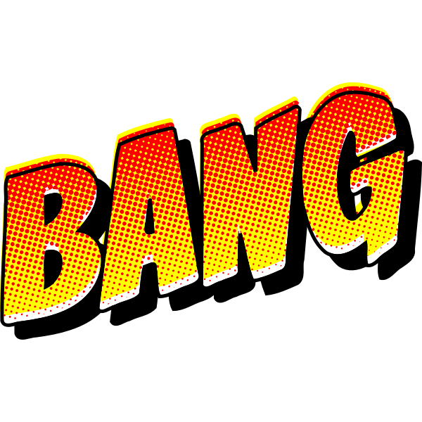 BANG vintage comic book sign vector drawing