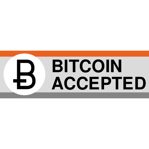 Bitcoin accepted banner
