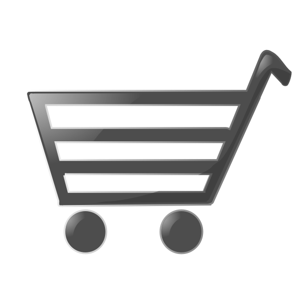 Shopping cart sign vector drawing