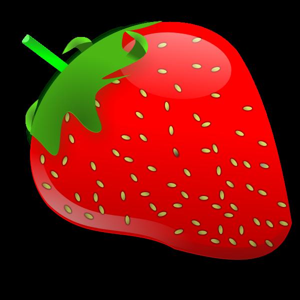 Vector illustration of glossy strawberry