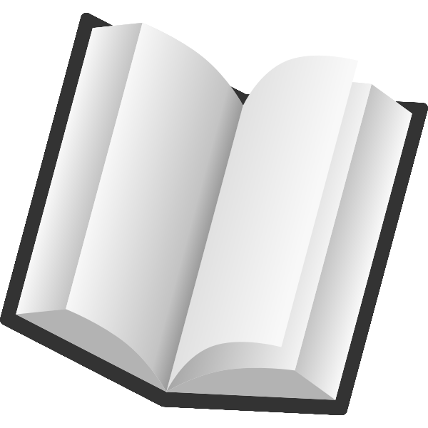 Tilted open book icon