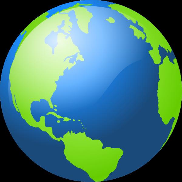 Northern hemisphere globe vector illustration
