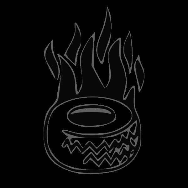 Tyre on fire