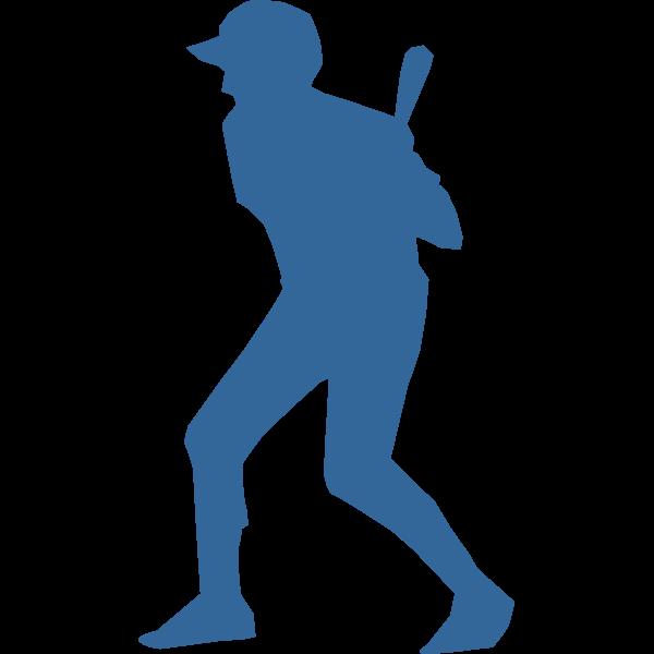 Baseball player silhouette vector image