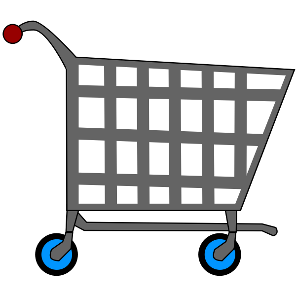 Supermarket trolley vector drawing