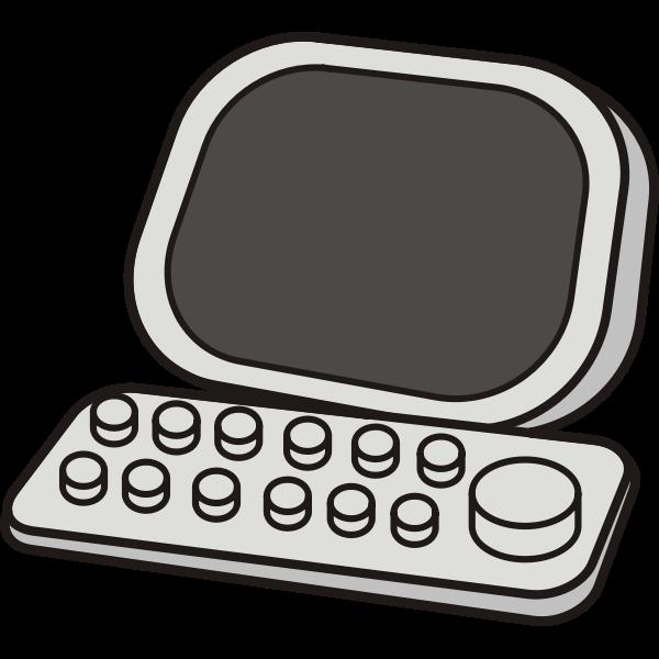 Vector image of retro computer icon