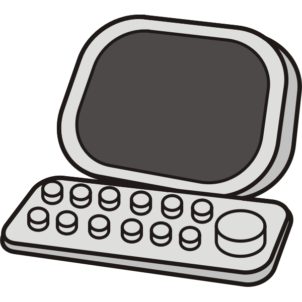 Vector image of retro computer icon