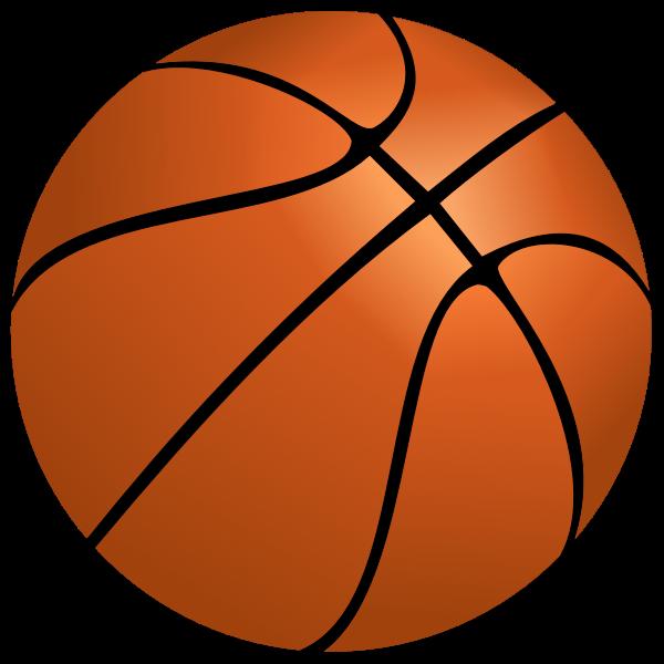 Vector image of basketball ball