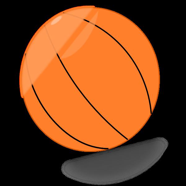 Basketball ball with shadow vector graphics