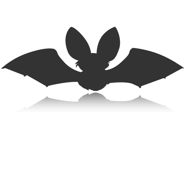 Silhouette vector image of black bat