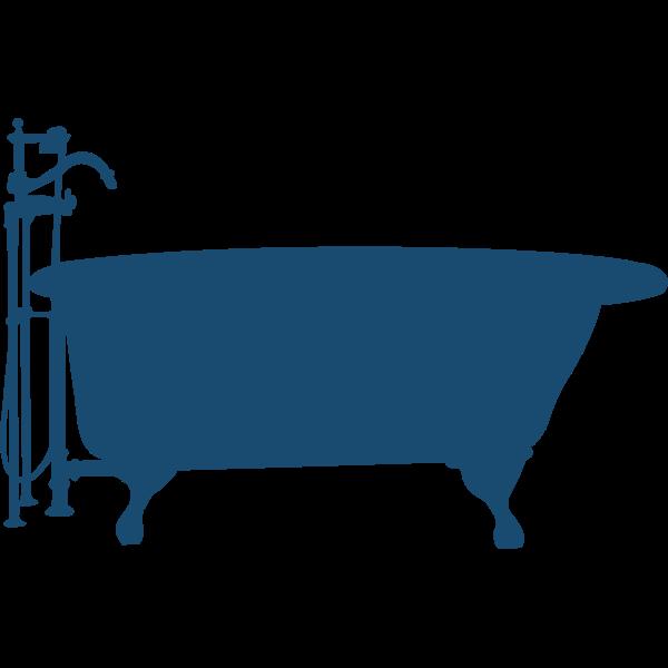 Bath tub silhouette vector image