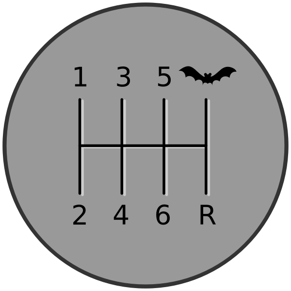 Batmobile gearshift