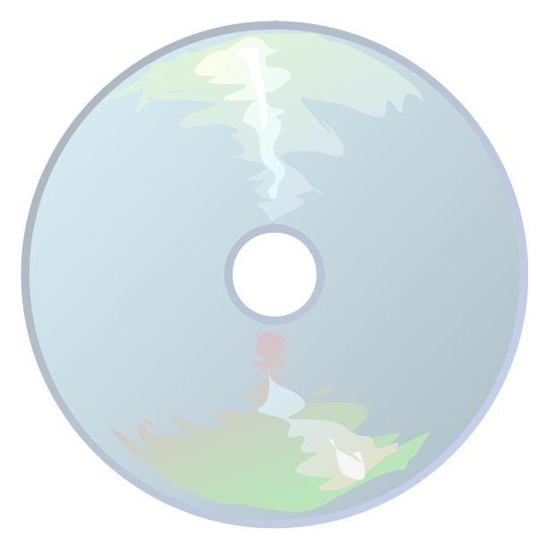 CD icon with reflection vector image