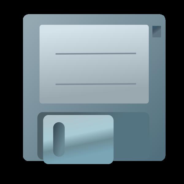 Vector clip art of blue floppy disc icon