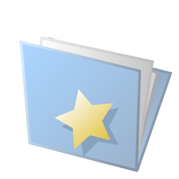 Vector illustration of blue favourites document folder