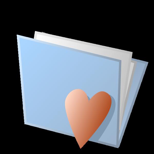 Love folder icon vector image