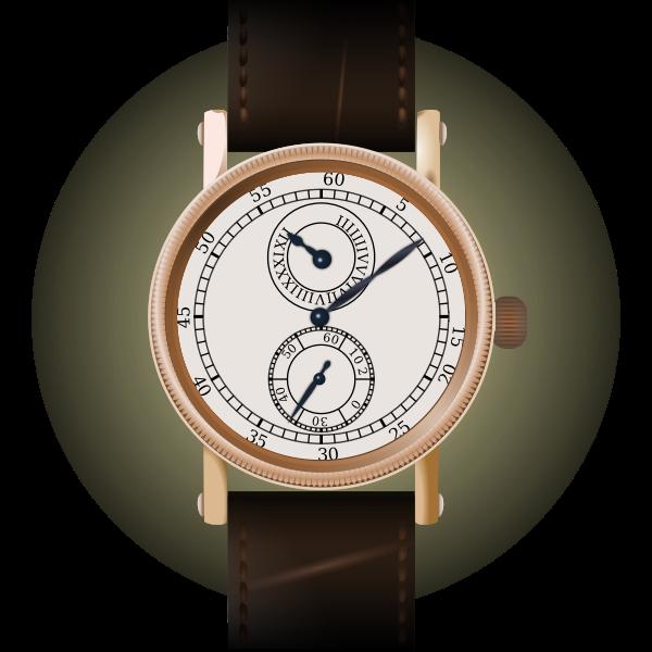 Classic wristwatch vector graphics