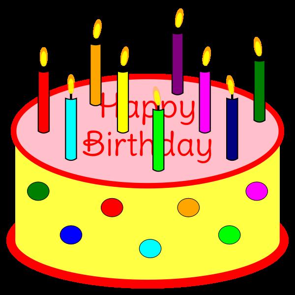 Flickering Candle Birthday Cake