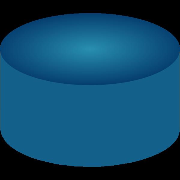 Blue disk drive capacity vector drawing