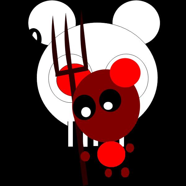 Halloween red bear vector image